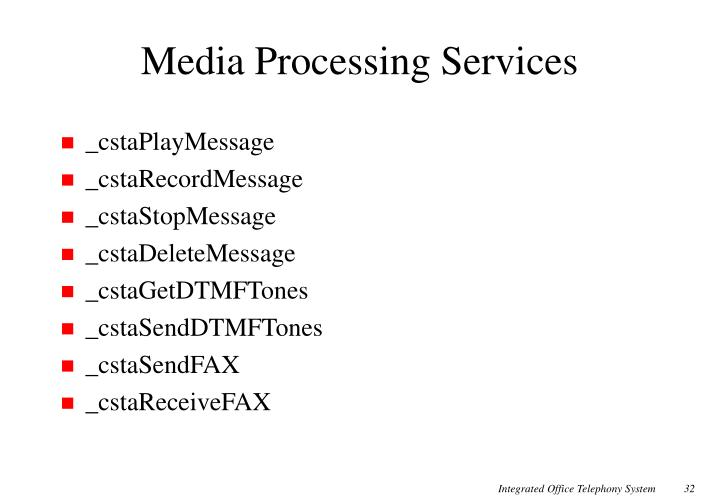 Media Processing Services