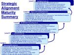 strategic alignment maturity summary