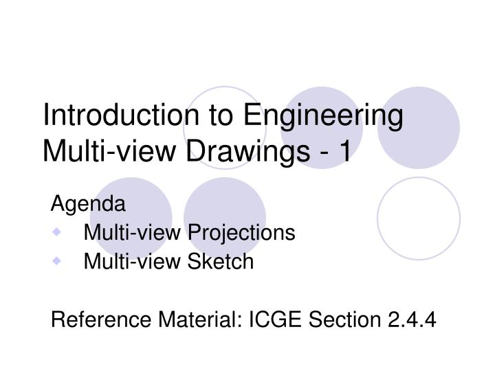 introduction to engineering multi view drawings 1 n.