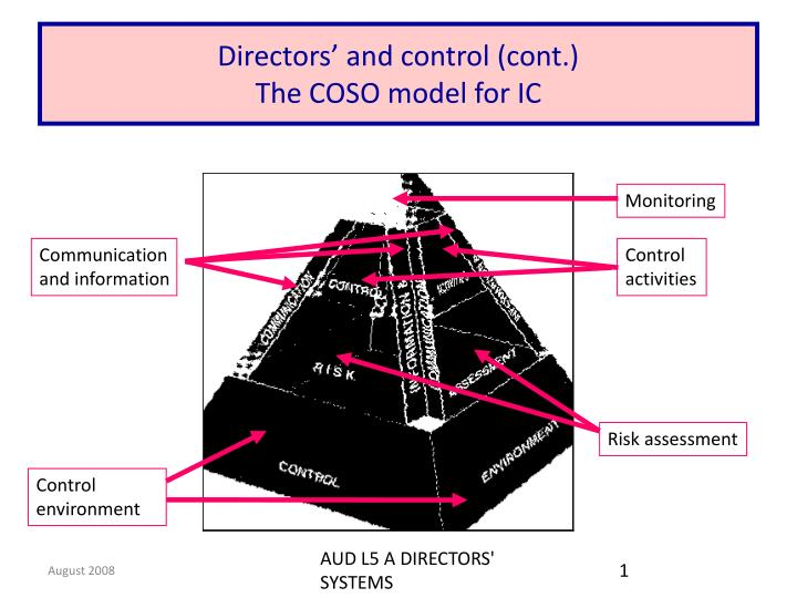 directors and control cont the coso model for ic n.