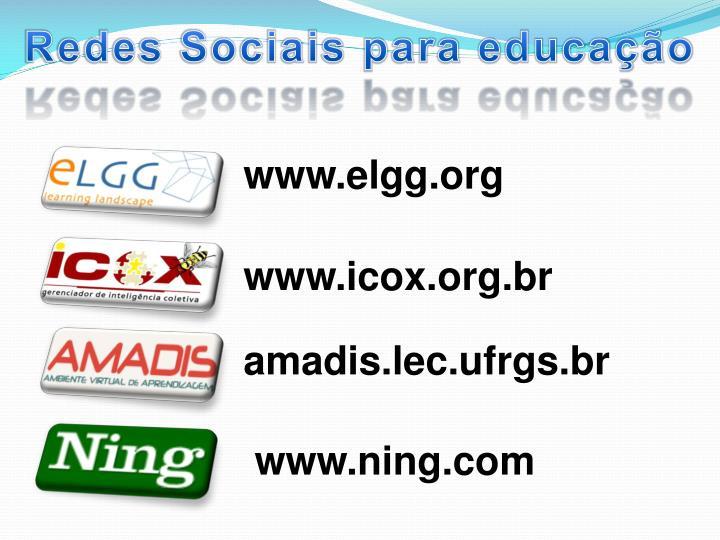 Redes Sociais para educação