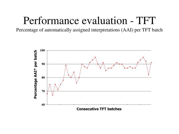 Performance evaluation - TFT
