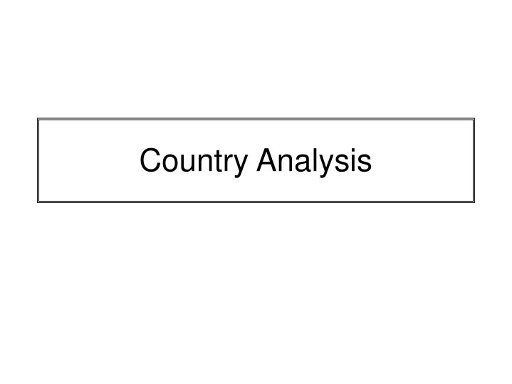 country analysis of military simulation and