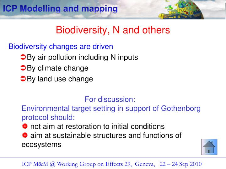 Biodiversity, N and others