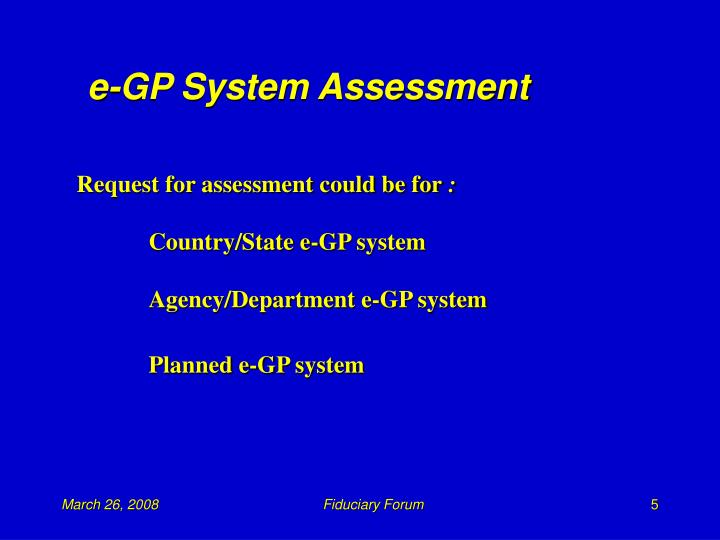 e-GP System Assessment