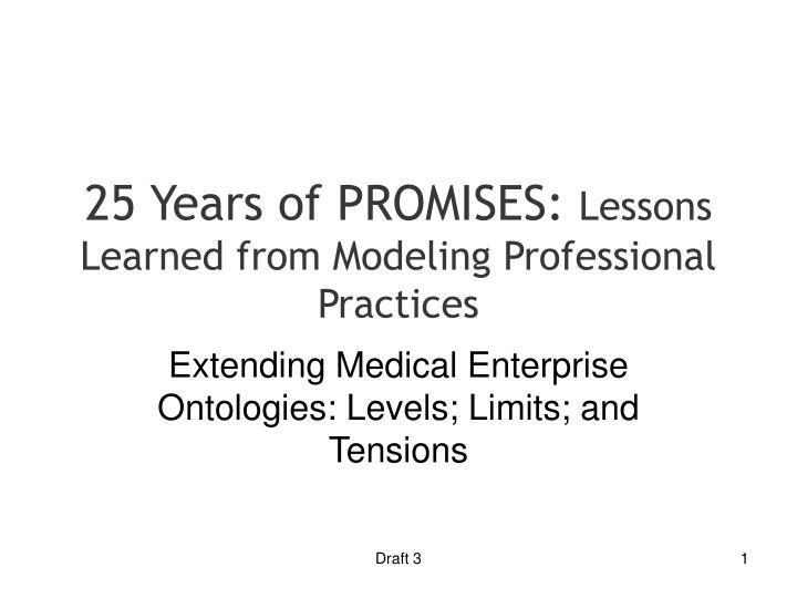 25 years of promises lessons learned from modeling professional practices n.