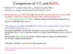 comparison of vo 2 and bavs 3