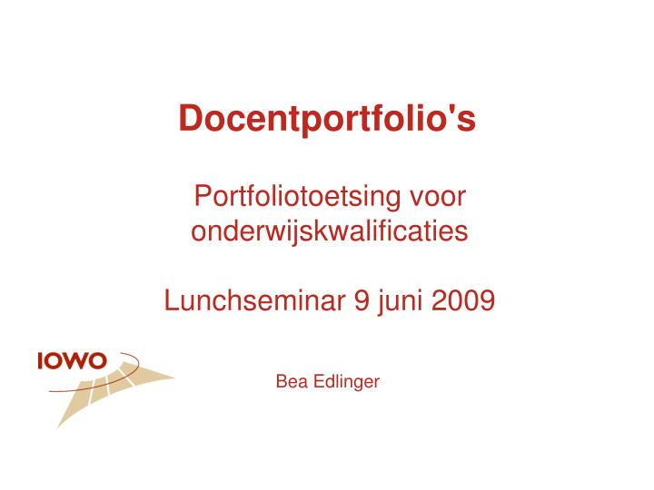 Docentportfolio s