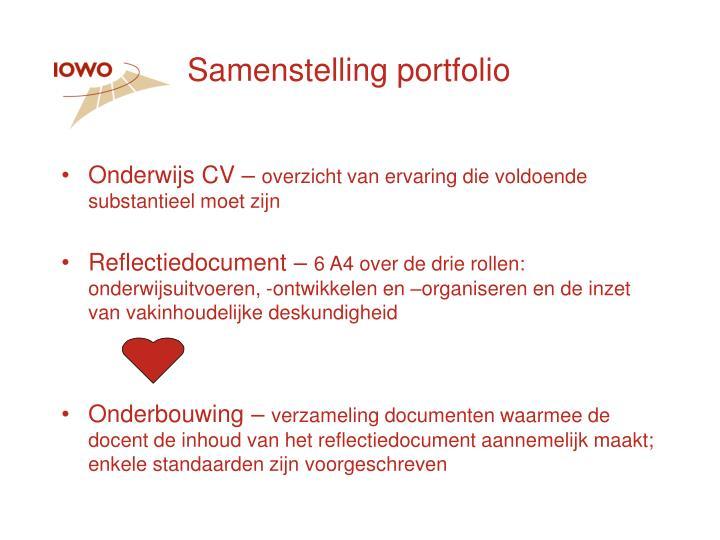 Samenstelling portfolio