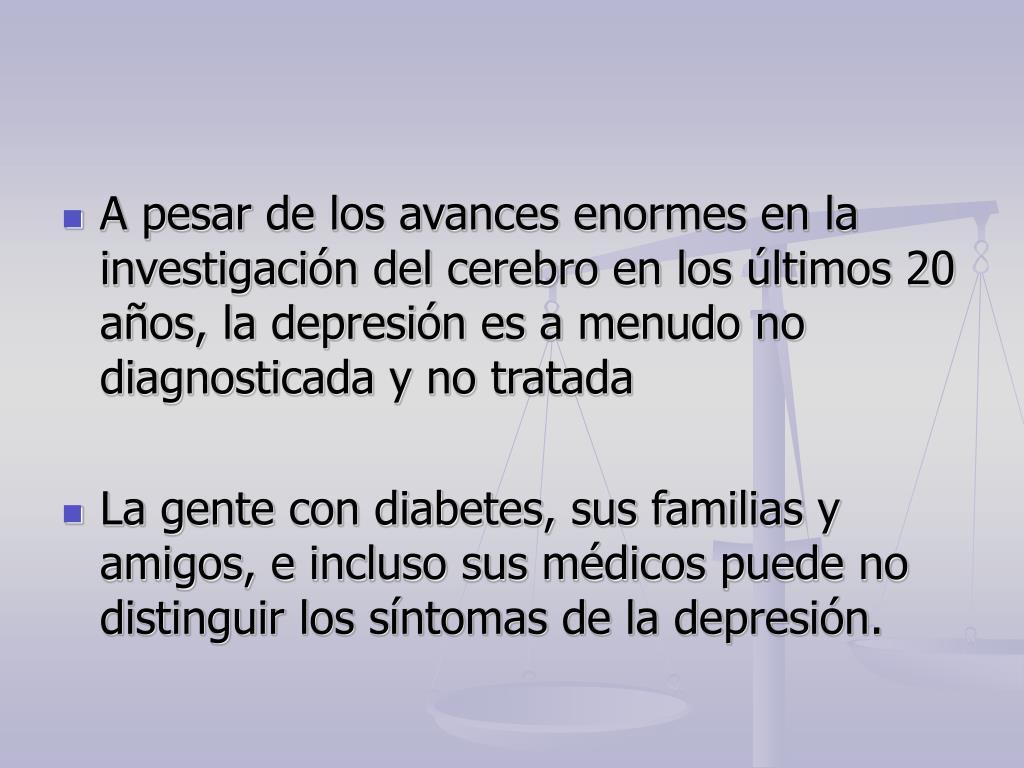 diabetes diagnosticada como ansiedad y depresión