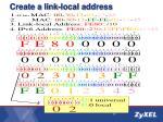 create a link local address