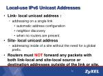 local use ipv6 unicast addresses1