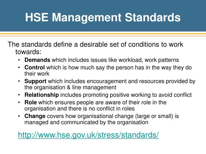 HSE Management Standards