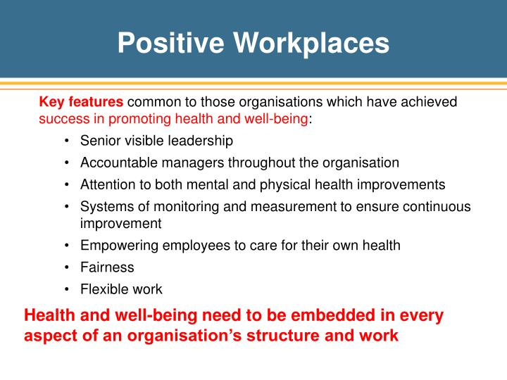 Positive Workplaces
