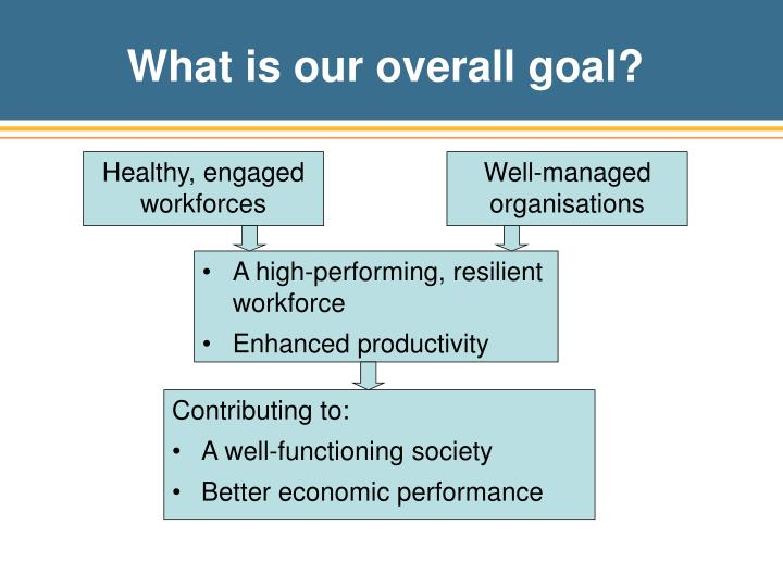 What is our overall goal?
