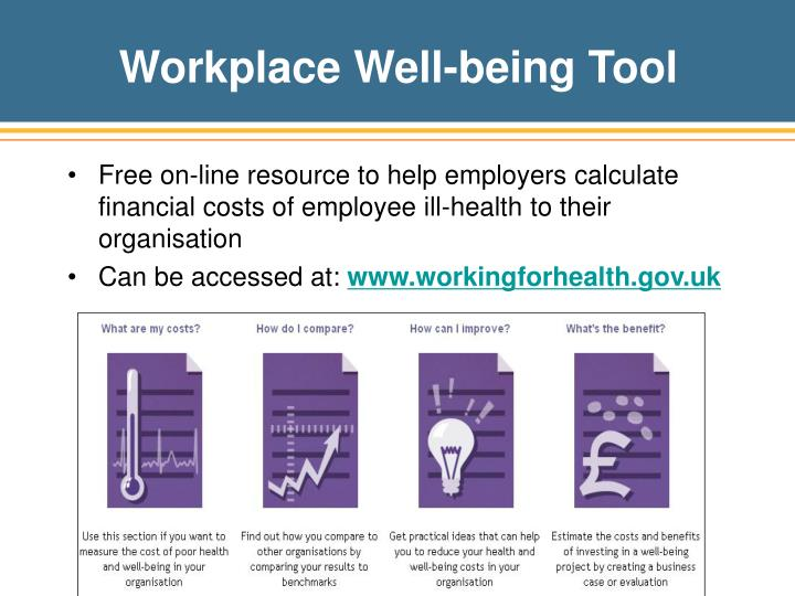 Workplace Well-being Tool