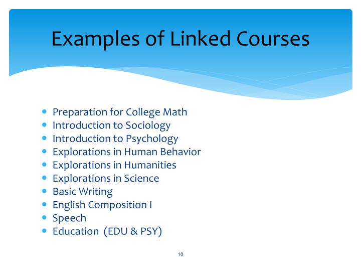 Examples of Linked Courses