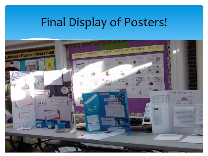 Final Display of Posters!