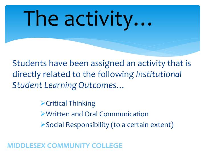 The activity…