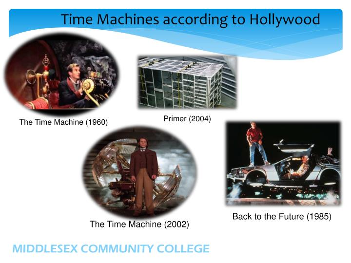 Time Machines according to Hollywood