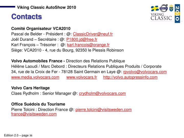 Comité Organisateur VCA2010