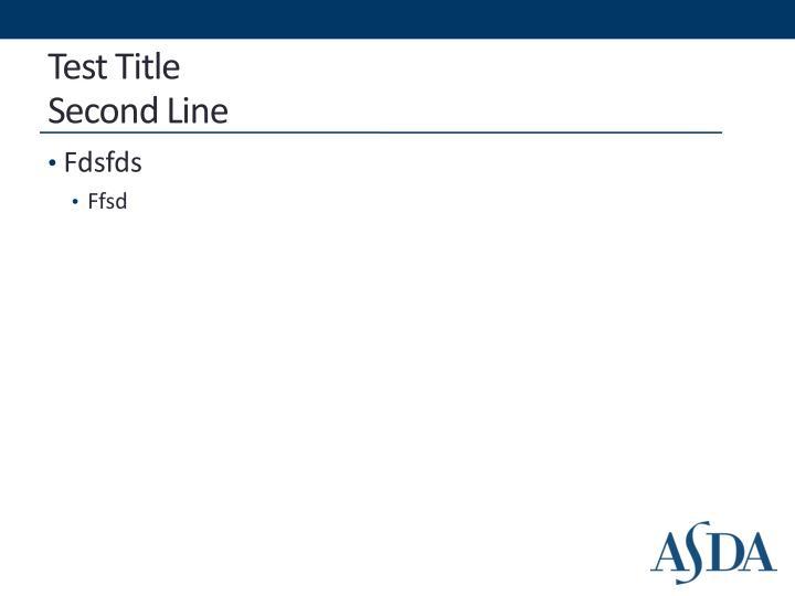 Test title second line