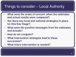 things to consider local authority
