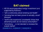 bat claimed