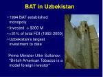 bat in uzbekistan