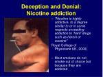 deception and denial nicotine addiction