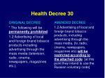 health decree 301