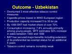 outcome uzbekistan