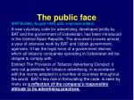 the public face