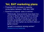 yet bat marketing plans