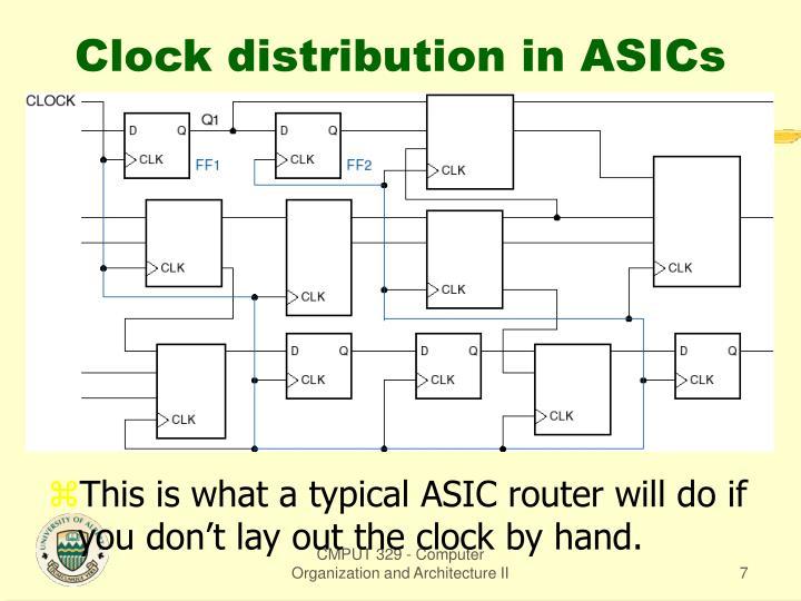 Clock distribution in ASICs