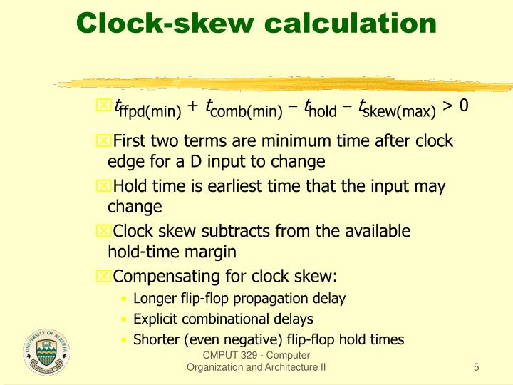 Clock-skew calculation