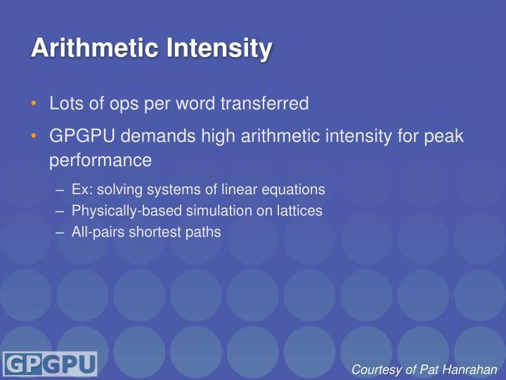 Arithmetic Intensity