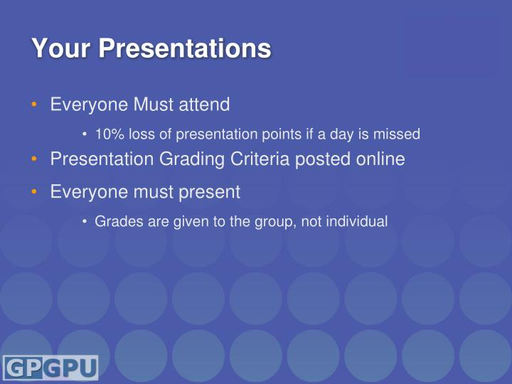 Your presentations