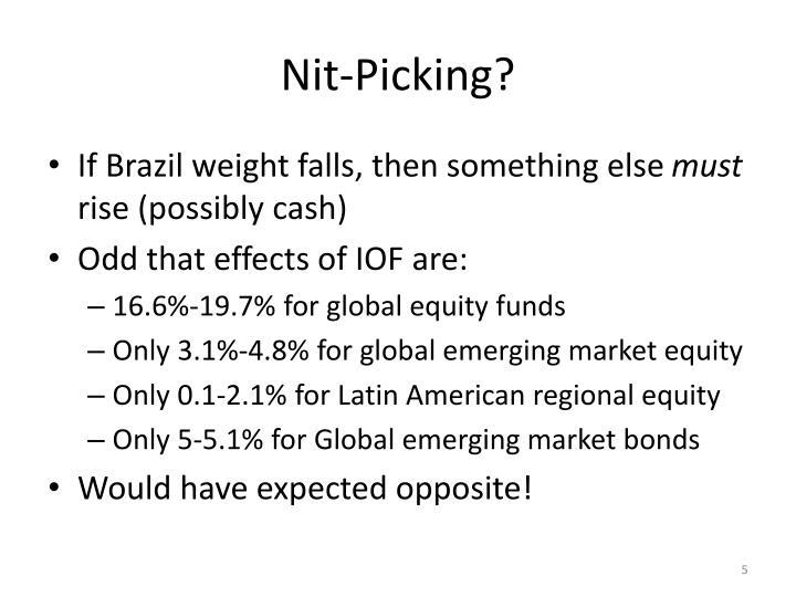 Nit-Picking?