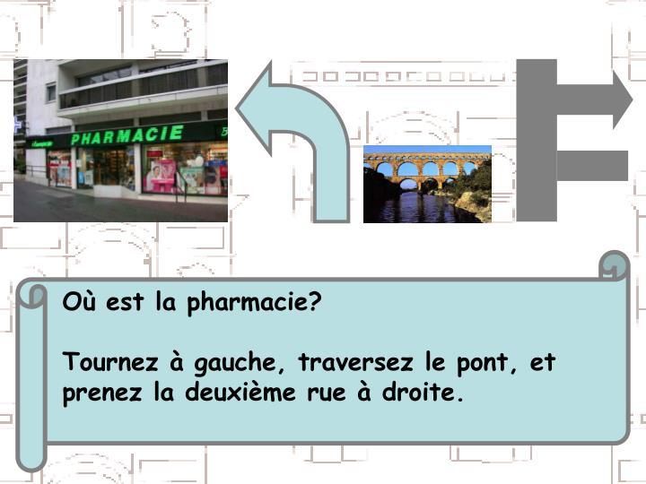 Où est la pharmacie?
