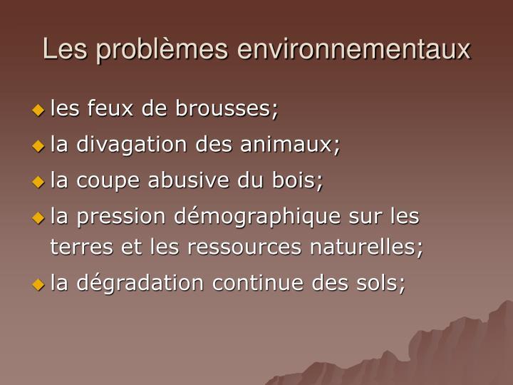 Les probl mes environnementaux