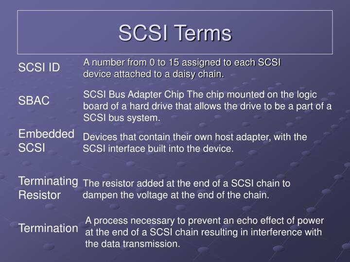 SCSI Terms