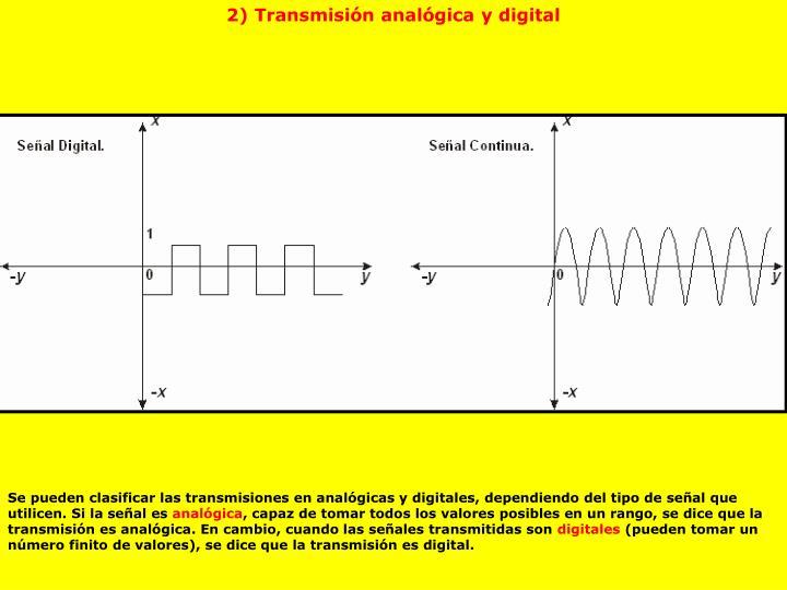 2) Transmisión analógica y digital