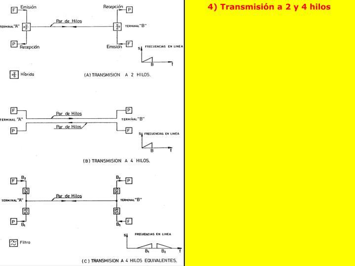 4) Transmisión a 2 y 4 hilos