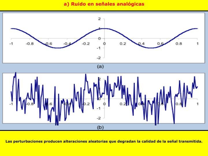 a) Ruido en señales analógicas