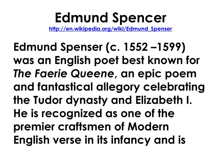 Edmund Spencer