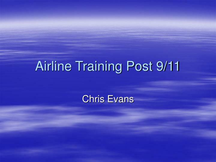 airline training post 9 11 n.