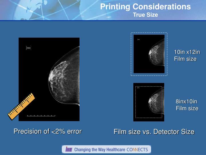 Printing Considerations