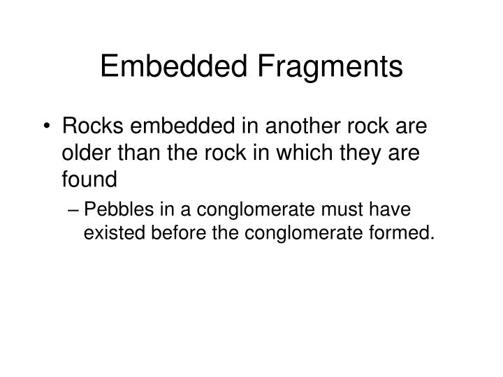 Embedded Fragments