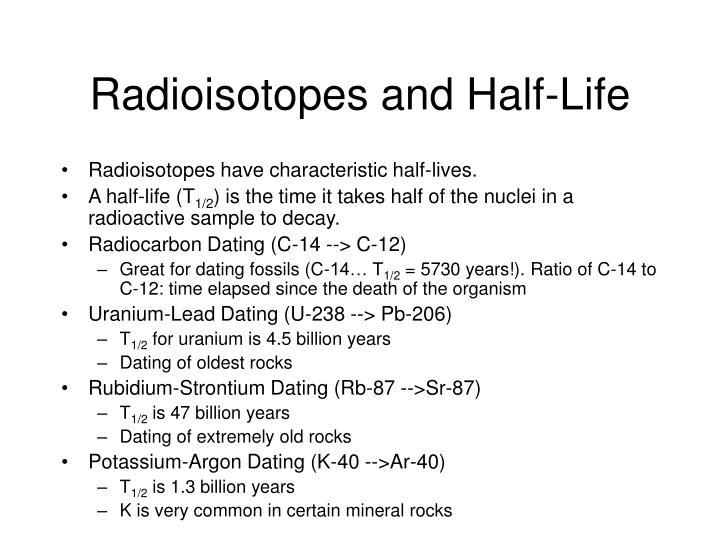 Radioisotopes and Half-Life